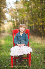 Alexis portrait (psalm271_14) Tags: road light red wild cute girl oregon children photography kid chair woods photographer dress natural sweet path country skirt eugene precious bangs gravel lowell