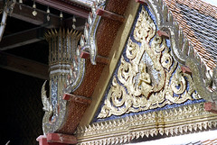 19-587 (ndpa / s. lundeen, archivist) Tags: roof color detail building film rooftop closeup architecture 35mm thailand bangkok nick decoration grandpalace thai 1970s ornate gilded 1972 19 1973 eaves gilding dewolf nickdewolf photographbynickdewolf reel19