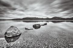 Loch Lomond last night (w.mekwi photography) Tags: longexposure blackandwhite landscape scotland rocks boulders filters lochlomond milarrochybay nikond7000 10stopper wmekwiphotography mekwicom