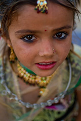 Megwhal Harijan little girl. Great Rann of Kutch, Gujarat. India (NeSlaB .) Tags: poverty travel portrait woman india colors girl beauty face look youth canon children nose photo necklace costume kid eyes women asia village child dress desert sweet indian traditional country young culture photojournalism makeup tribal clothes ornaments earrings tradition tribe ethnic society appearance developingcountries reportage nationalgeographic ethnography ethnology kutch kachchh aspect rann marvada megh harijan ethnies harij hodka neslab davidecomelli megwhal meghwalh
