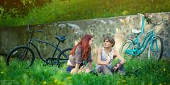 Schwinn Slik Chik Women ([]NEEL[]) Tags: love sunshine bicycle happy spring photoshoot pair story schwinn