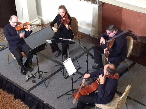 The Amerinet string quartet performs at the mainly Mozart festival concert at the Biltmore
