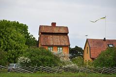 Annas nöje 1798, Katthammarsvik, Gotland, Sweden (Bochum1805) Tags: orange vimpel puts tegeltak gärdesgård järnvitriol