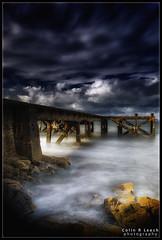 Break in the clouds (WibbleFishBanana) Tags: portencross ayrshire scotland westkilbride pier sea atlantic firthofclyde arran storm wind wave rocks leelittlestopper lee3stophardgrad leepolariser weecumbrae eileanarainn ardrossan