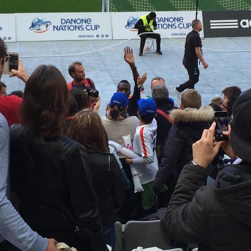 Jorge ha chocado la mano con Matuidi!!! 😀😀😀 genial! #dnc2016