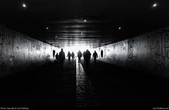 Tunnel, Bucharest, Romania (Lars-Rollberg.com) Tags: bucharest romania tunnel bw blackandwhite sw street