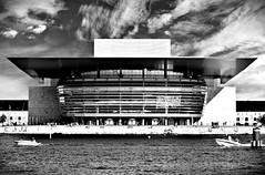 Copenhagen Opera House (Arnzazu Vel) Tags: operahouse copenhagen kbenhavn denmark water architecture architettura arquitectura modernarchitecture biancoenero blackandwhite blancoynegro dinamarca