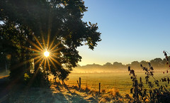 It will be a beautiful autumn day .... (Peter u Hilde) Tags: sonnenaufgang sonnenstern