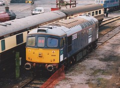 """Stored Ex-Direct Rail Services Class 33/0, 33030 (37190 """"Dalzell"""") Tags: drs directrailservices originallogos stored withdrawn scrap birminghamrailwaycarriagewagonco brcwco sulzer crompton class33 class330 33030 d6548 wcrc westcoastrailwaycompany openday steamtown carnforth"""