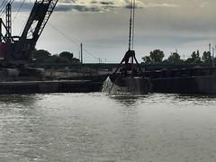 Dredging (prodefenserm) Tags: water boat harbor erie lake ohio huron dredging