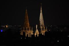 Les flches de Saint-Nizier depuis la place Rouville (Richard de Lyon) Tags: lyon glise saintnizier toits flches