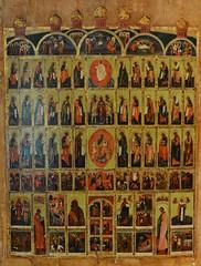 Choir of Saints (bobosh_t) Tags: iconexhibit icons iconography orthodoxy easternorthodoxy icon