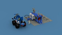 Classic Space Gas Station (Locutus666) Tags: lego classic space gas station