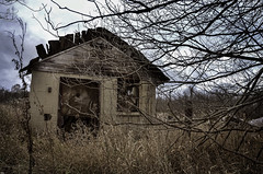 Open Wounds (drei88) Tags: bleak forlorn dreary autumnal dark desolate windswept cold november wuthering solitude discovery d7k d7000 thanksgiving grim remains abandoned abandonment farmstead