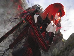 Seeing Red, Being Red (Paragon Randoms #14) (polyneutron) Tags: unrealengine paragon moba character fighter melee countess assassin caster ruthless depthoffield attack vampire