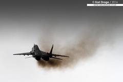 40 - Mikoyan-Gurevich MiG-29 Fulcrum - 1.elt, 23.blt, Polish Air Force (KarlADrage) Tags: 40 mikoyangurevich mig mig29 fulcrum polishairforce egva ffd riat royalinternationalairtattoo raffairford fairford smoke