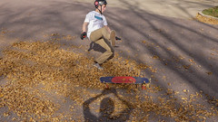 Fall(ing) (Codydownhill) Tags: skateboard skateboarding longboard longboarding fall leaves skating street downhill south dakota autumnleaves