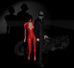 Just because we can... (MsDarkSecret) Tags: sl secondlife second life dark secret secrets renoir vladimiro vr creations bike motorcycle shadow shadows light red black mask helmet