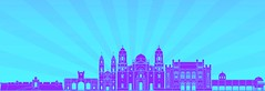 Cadiz skyline in purple radiant orchid (antoniobraza) Tags: cadizskyline cadiz skyline spain europe travel architecture backgrounds building city cityscape downtown horizon illustration isolated landmark metropolis outline panorama place reflected silhouette skyscraper tower urban vector radiantorchid purple