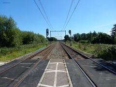 spoorwegovergang bij Vechten (bcbvisser13) Tags: railroadcrossing spoorwegovergang rails panorama symetrie vechten gembunnik provutrecht nederland eu spoortraject utrechtarnhem perspectief pov