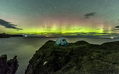A night with the aurora (bradders29) Tags: aurora brotherspoint skye wildcamping tent northernlights stars