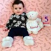 5 Month Birthday (Canadian Veggie) Tags: astrid milestone infant baby birthday 5months