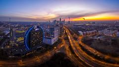 Frankfurt awakes (Haussmann Visuals) Tags: frankfurt frankfurtammain mainhattan drone aerial aerialpanorama
