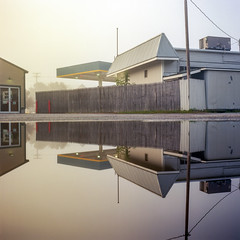 (Patrick J. McCormack) Tags: hasselblad 500cm kodak ektar film 120 6x6 mist fog reflection fall autumn analog morning