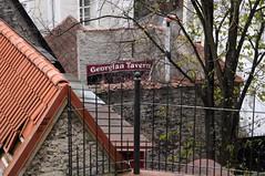 Georgian Taverna and all kind of roofs. (irio.jyske) Tags: restaurant georgian taverna tallin estonia roofs trees canon nice