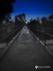 Bridge to Nowhere (chuckl2432) Tags: digitalphotography chucklapinsky chucklapinskyphotography chucklapinskysmugmugcom apple iphone iphone6 bridgetonowhere sandiego callfornia bridge dawn bluesky perspective vanishingpoints urban urbex photowalking california usa 840