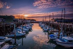 San Francisco Fishermans Warf Sunset (bcr160) Tags: san francisco fishermans warf boats clouds sunset singh ray filters nikon d80 sigma 1020 bcr160 kl0