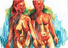 CUERPOS (GARGABLE) Tags: nudes apuntes lpicesdecolores desnudos natural colores cuerpos