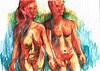 CUERPOS (GARGABLE) Tags: nudes apuntes lápicesdecolores desnudos natural colores cuerpos