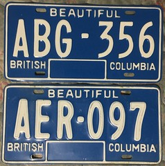 BRITISH COLUMBIA 1979 ---NATURAL ISSUED TWO DIFFERENT PAINT JOBS, PLATES (woody1778a) Tags: britishcolumbia bc bchistory bcplates 1979 numberplate registrationplate licenseplate mycollection myhobby canada natural