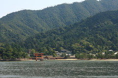 Miyajima from the ferry (iorus and bela) Tags: iorus japan holiday vakantie 2016 hiroshima bela miyajima itsukushima shrine floatingtorii torii