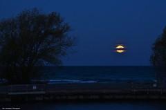 Supermoon in the blue hour (Rex Montalban Photography) Tags: rexmontalbanphotography moon bluehour supermoon portdalhousie niagara stcatharines lakesidepier
