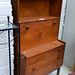Retro teak stained 3 dwr chest of drawers