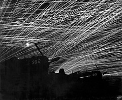 #Japanese night raiders are greeted with a lacework of anti-aircraft fire by the Marine defenders of Yontan airfield, on Okinawa 1945 [27932292] #history #retro #vintage #dh #HistoryPorn http://ift.tt/2fKaJvM (Histolines) Tags: histolines history timeline retro vinatage japanese night raiders greeted with lacework antiaircraft fire by marine defenders yontan airfield okinawa 1945 27932292 vintage dh historyporn httpifttt2fkajvm