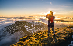 Early Bird (snazbaz) Tags: sigma sunrise cloud inversion pen y fan wales brecon beacons mountain golden hiking