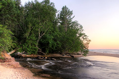 Hurricane River At Dusk (Robert F. Carter) Tags: landscape landscapes river rivers greatlakes lakesuperior beach beaches dusk sundown sunset picturedrocksnationallakeshore nationallakeshores hurricaneriver crookedtreephotographicsociety robertcarterphotographycom ©robertcarter puremichigan ngc