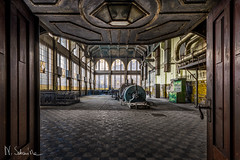 This is what the hero left on his way out the door. (S-ka..) Tags: powerplants abandoned urbex decay door machine window greatphotographers