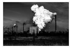 Avdeevka Chemical Plant (Roman Lunin) Tags: ukraine easternukraine blackwhite blackwhitephoto bw blackwhitephotography black white monochrome smog steam plant chemicals pollution sharp nature