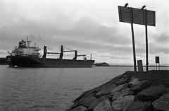 Eira leaving port (Cattail_) Tags: eira ship helsinki finland tervasaari kruunuhaka tanker sea minolta xg9 trix400 standdevelopment standdeveloped