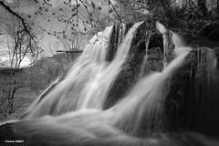 En haut de la cascade des Tufs  Reculée des planches près d'Arbois (francky25) Tags: en white black de la noir des jura et cascade blanc planche haut tufs près comté franche reculée darbois