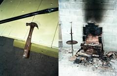 (Jacob Seaton) Tags: philadelphia lamp yellow hammer table fire pipe altar burn stove burnt ash cinderblocks