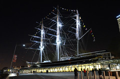 Cutty Sark Illuminated (John A King) Tags: night dark greenwich illuminated explore cuttysark floodlit