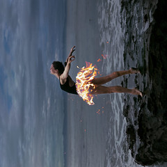 Burning Desires - 43/52 (CeJae B.) Tags: ocean sea ballet beach rock fire photography dance dancer natalie cierra benavidez cejae firetutu tutuonfire