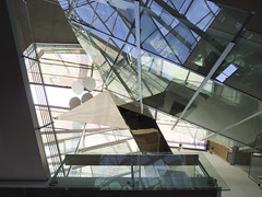 Disruption (weyerdk) Tags: wood reflection building berlin glass architecture stairs germany concrete deutschland design construction skylight bridges allemagne akademiederknste balustrade pariserplatz behnisch berlinuniversityofthearts