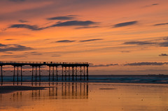 A Saltburn Sunset. (paul downing) Tags: sunset summer pier nikon saltburnbythesea coastaluk pd1001 d7000 pauldowning pauldowningphotography