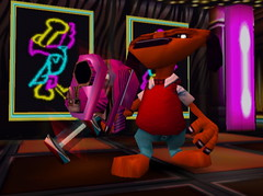 555774-roofus5 (furballs_dc) Tags: dog disco pc screen beta prototype dreamcast alpha furballs roofus sexymirror furfighters newquackcity worldquackcenter